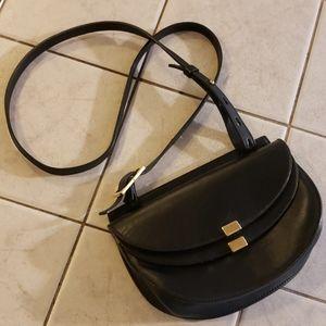 Chloe Authentic Black Leather Saddle Crossbody Bag